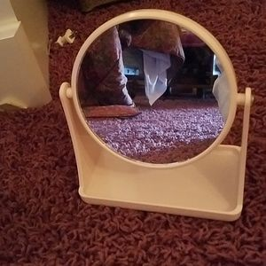 New pink 2 sided flip mirror